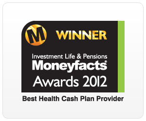 Moneyfacts Awards 2012 Best Health Cash Plan Provider